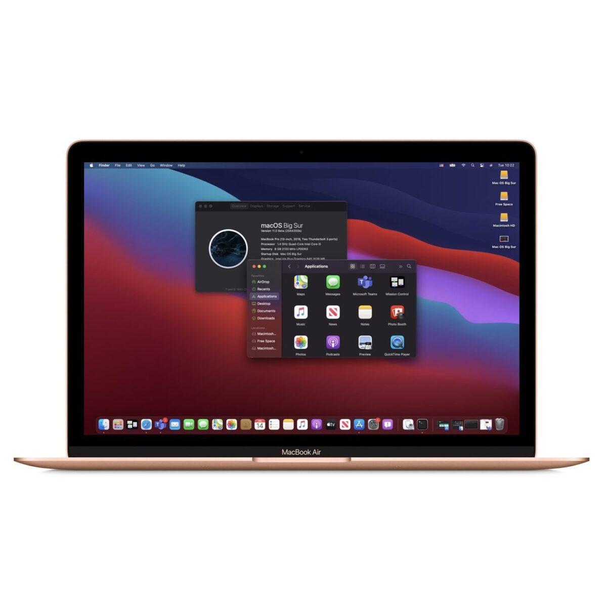 "Apple Macbook Air OS Big Sur 512GB SSD 16GB RAM Powerful 13.3"" Mac Laptop Core i5 2018 Gold"